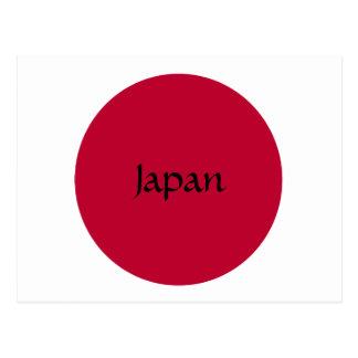 Cartão Postal Bandeira de Japão ou de Hinomaru