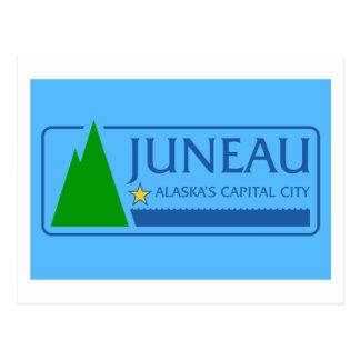 Cartão Postal Bandeira de Juneau, Alaska