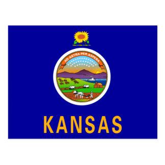 Cartão Postal Bandeira de Kansas