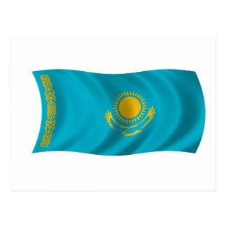 Cartão Postal Bandeira de Kazakhstan