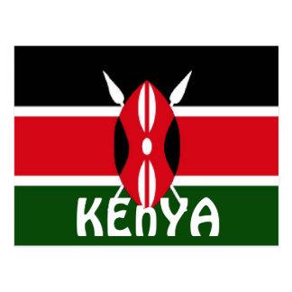 Cartão Postal Bandeira de Kenya