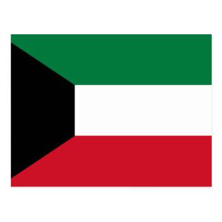 Cartão Postal Bandeira de Kuwait