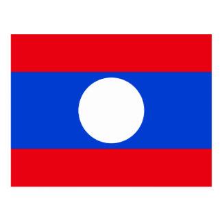 Cartão Postal Bandeira de Laos