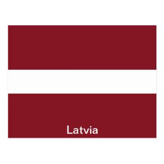 Cartão Postal Bandeira de Latvia