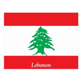 Cartão Postal Bandeira de Líbano