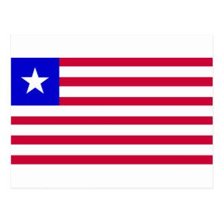 Cartão Postal Bandeira de Liberia
