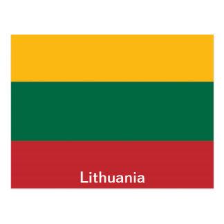 Cartão Postal Bandeira de Lithuania
