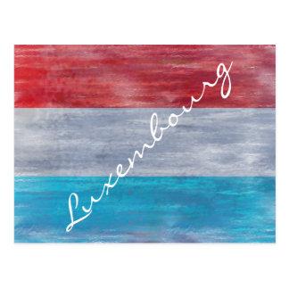 Cartão Postal Bandeira de Luxembourg - personalize