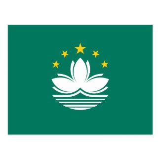Cartão Postal Bandeira de Macau