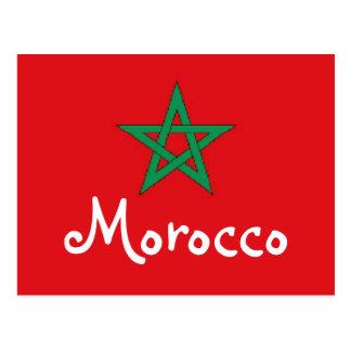 Cartão Postal Bandeira de Marrocos