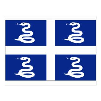 Cartão Postal Bandeira de Martinica