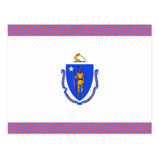 Cartão Postal Bandeira de Massachusetts