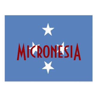 Cartão Postal Bandeira de Micronesia