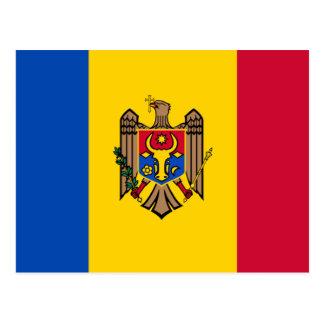 Cartão Postal Bandeira de Moldova