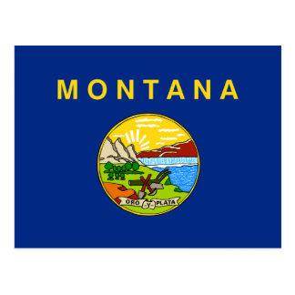 Cartão Postal Bandeira de Montana