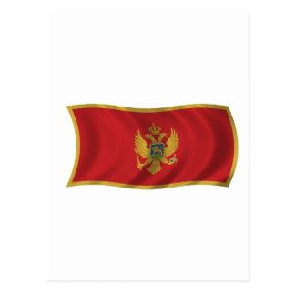 Cartão Postal Bandeira de Montenegro