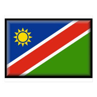 Cartão Postal Bandeira de Namíbia