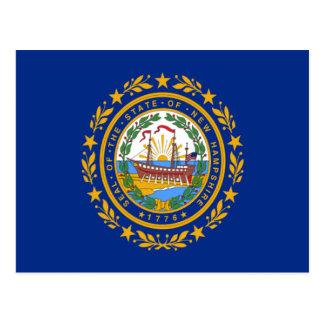 Cartão Postal Bandeira de New Hampshire