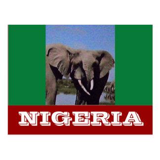 Cartão Postal Bandeira de Nigéria