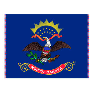 Cartão Postal Bandeira de North Dakota