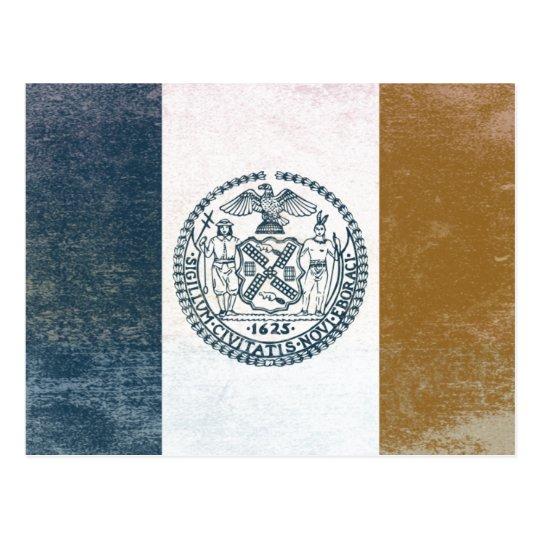 Cartão Postal Bandeira de Nova Iorque