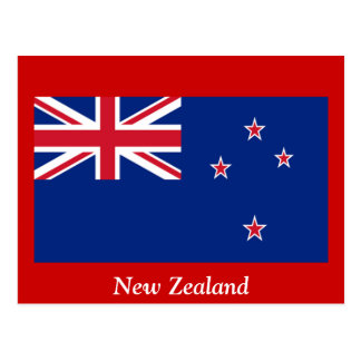 Cartão Postal Bandeira de Nova Zelândia