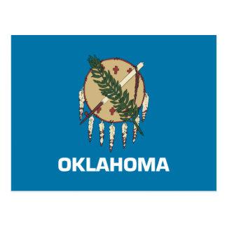 Cartão Postal Bandeira de Oklahoma