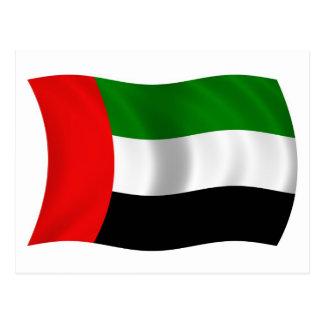 Cartão Postal Bandeira de ondulação dos UAE