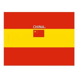 Cartão Postal Bandeira de país de China