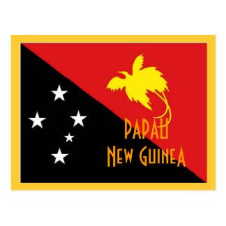 Cartão Postal Bandeira de Papau Nova Guiné