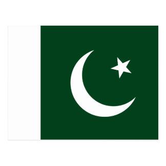 Cartão Postal Bandeira de Paquistão