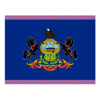 Cartão Postal Bandeira de Pensilvânia
