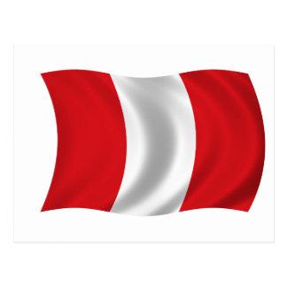 Cartão Postal Bandeira de Peru