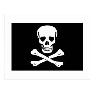 Cartão Postal Bandeira de pirata