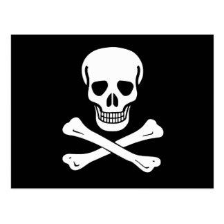 Cartão Postal Bandeira de pirata alegre de Roger