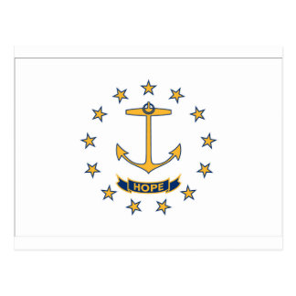 Cartão Postal Bandeira de Rhode - ilha
