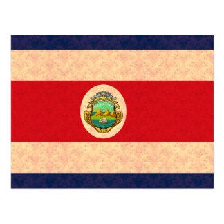 Cartão Postal Bandeira de Rican da costela do teste padrão do