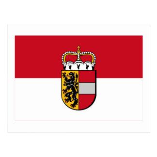 Cartão Postal Bandeira de Salzburg, Áustria