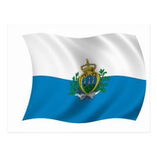 Cartão Postal Bandeira de San Marino