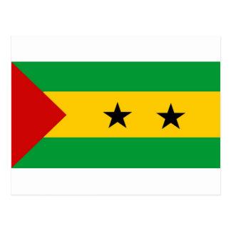 Cartão Postal Bandeira de Sao Tome and Principe