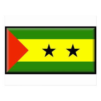 Cartão Postal Bandeira de São Tomé Principe