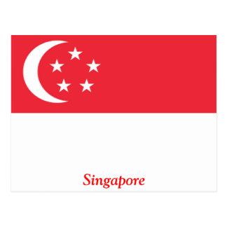 Cartão Postal Bandeira de Singapore