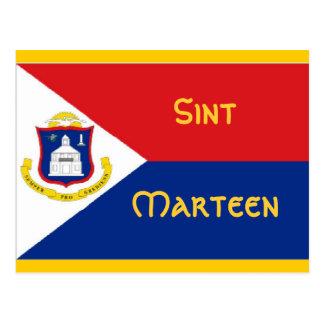 Cartão Postal Bandeira de Sint Marteen St Martin