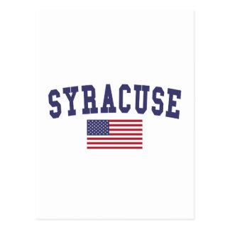 Cartão Postal Bandeira de Siracusa E.U.