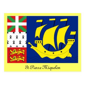 Cartão Postal Bandeira de St Pierre Miquelon