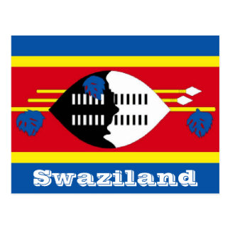 Cartão Postal Bandeira de Suazilândia