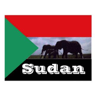 Cartão Postal Bandeira de Sudão