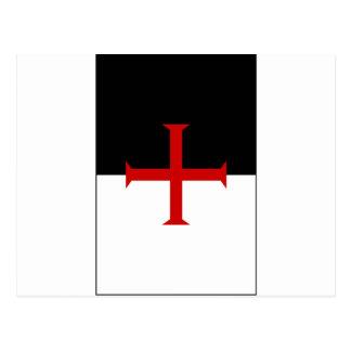Cartão Postal Bandeira de Templar dos cavaleiros