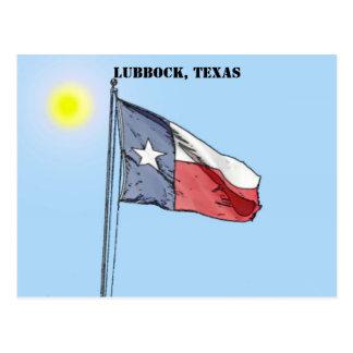 Cartão Postal Bandeira de Texas, Lubbock, Texas