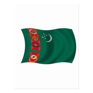 Cartão Postal Bandeira de Turkmenistan